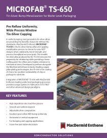 晶圆级封装应用的锡银焊锡凸块电镀工艺