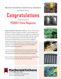 PCB007 China Mag - Congratulations Ad